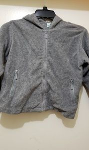 Child's cotton fleece zip front hoodie